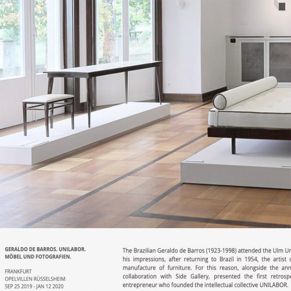 Unilabor. Möbel und Fotografien Geraldo de Barros